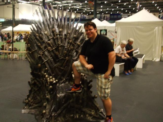 Plastic throne is fun.