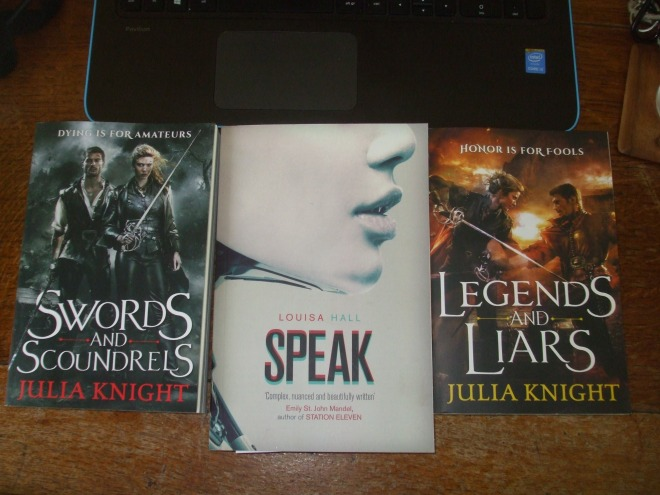 Three more books.
